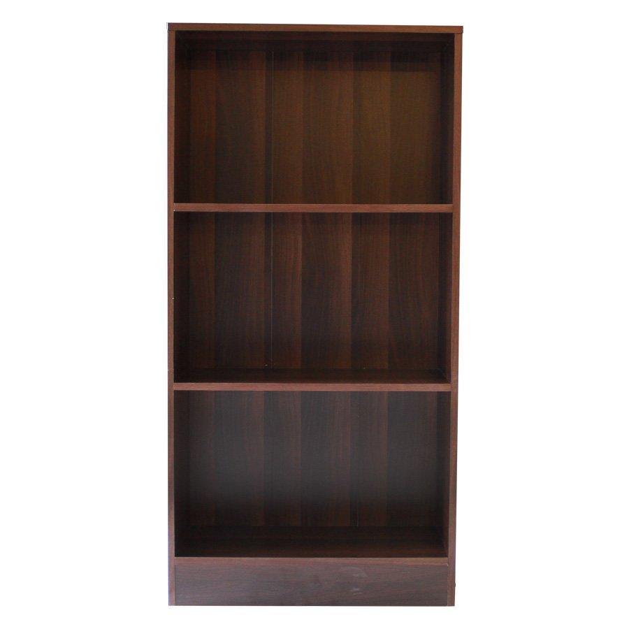 Toby 3 Shelves Bookcase - Brown