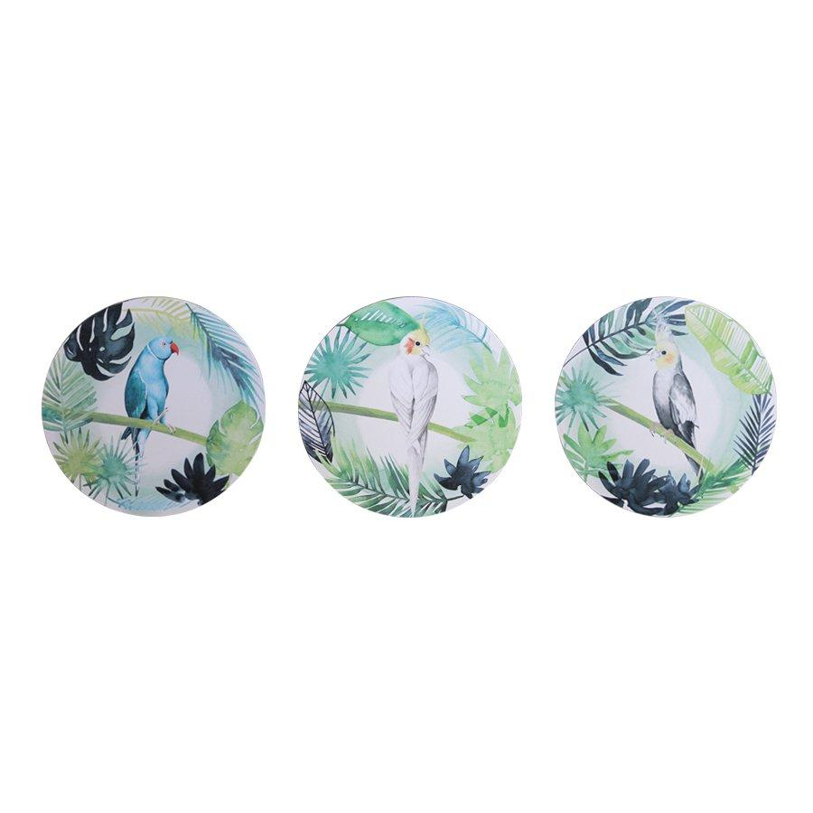 LSAC5070 Birds Set Of 3 40x40 35x35 30x30