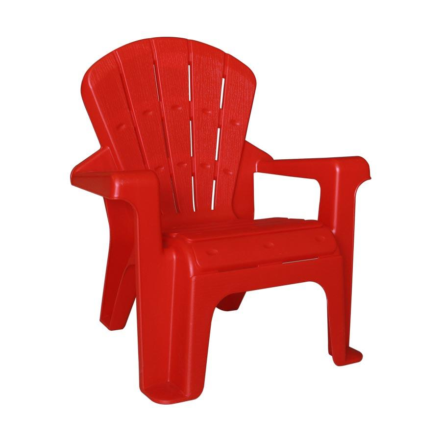 Zendaya Plastic Kids Chair W/ Arm - Red