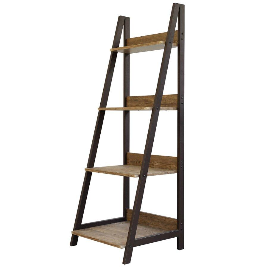 Ladder Bookcase - K04 Walnut