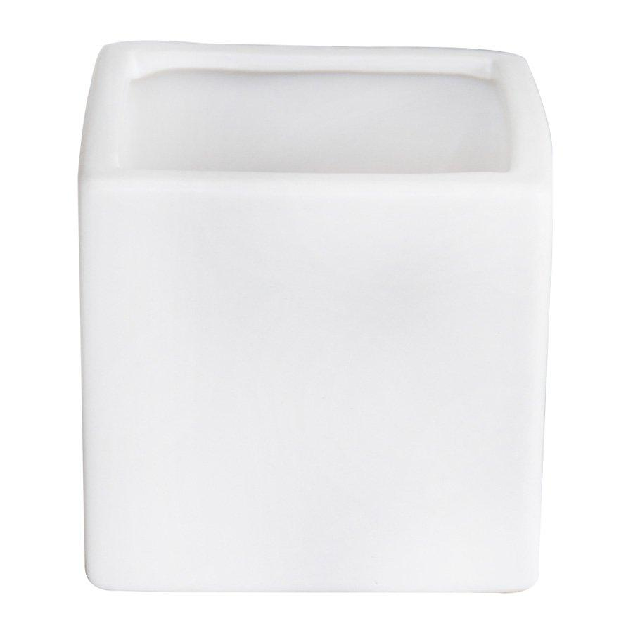 CSW555 Square Pot White Matte H:13.5cm