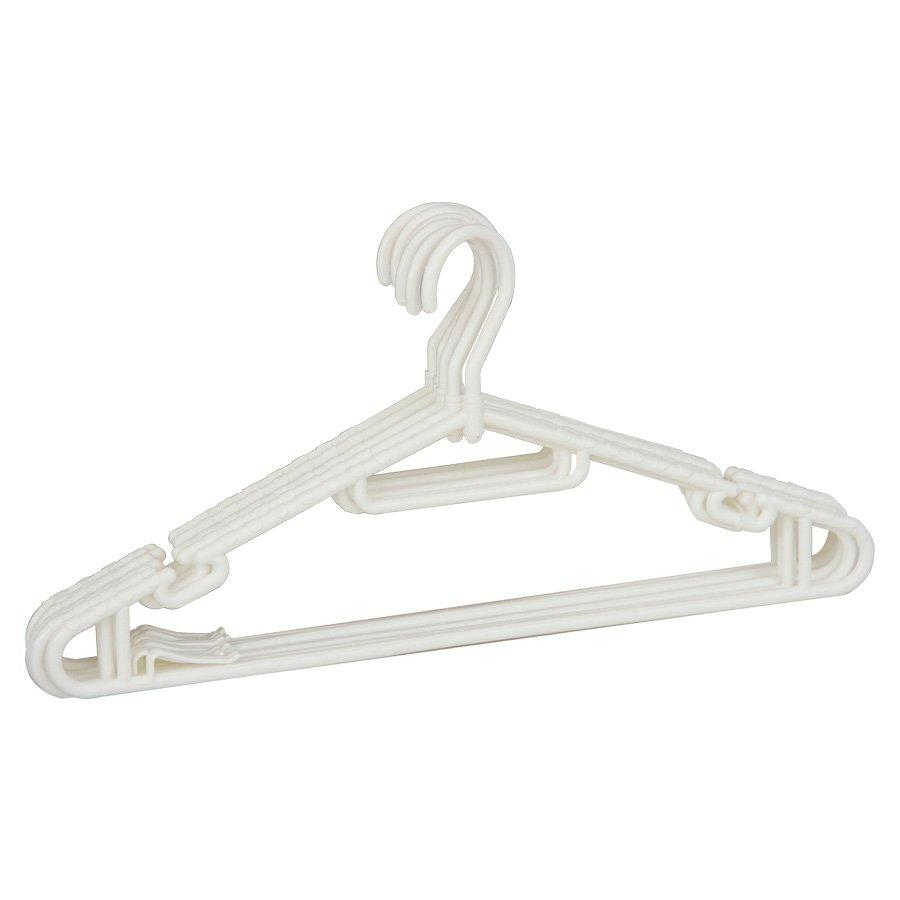 6634 8 Pieces Cloth Hanger - White - Mandaue Foam