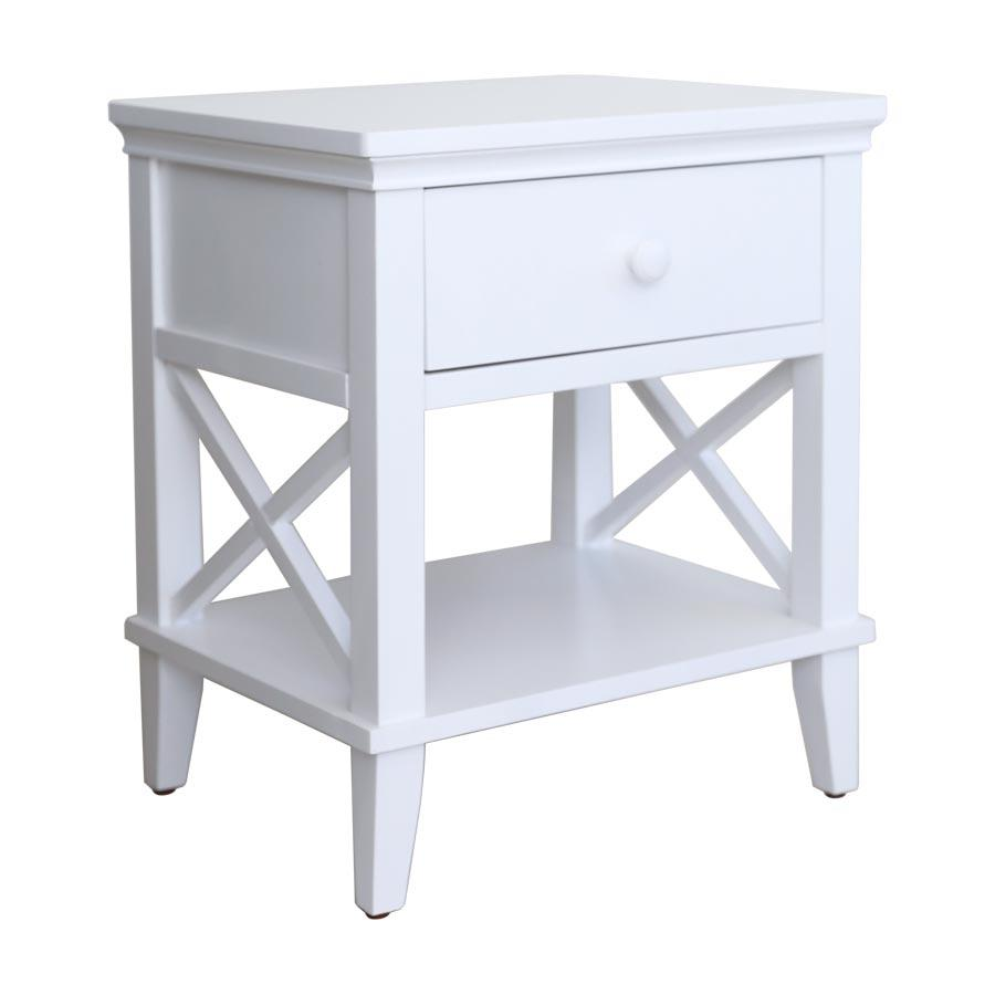 April Night Stand - White