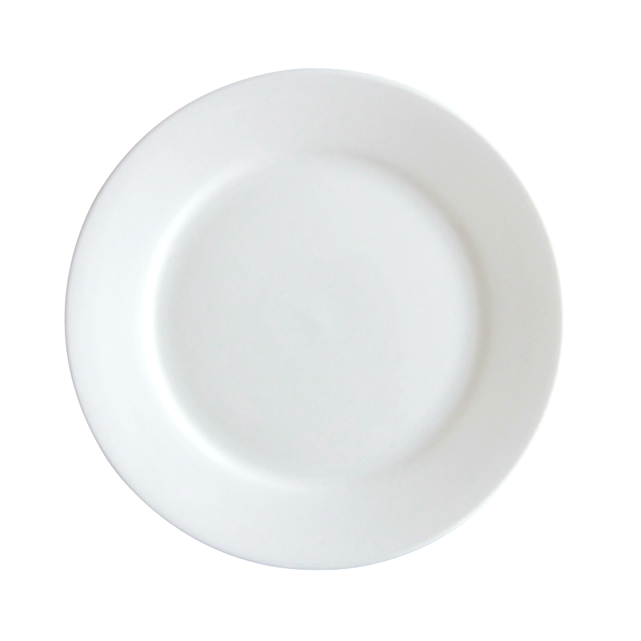 "7"" Flat Porcelain Side Plate"