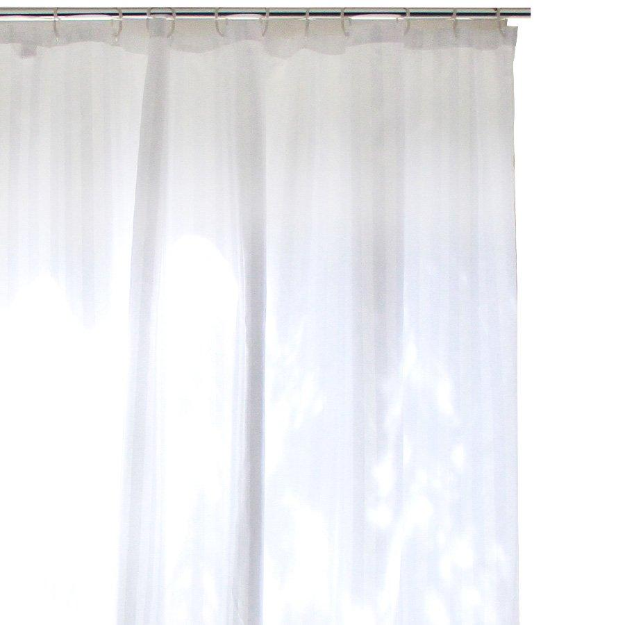 YW-SC-305 Stripe Shower Curtain - White