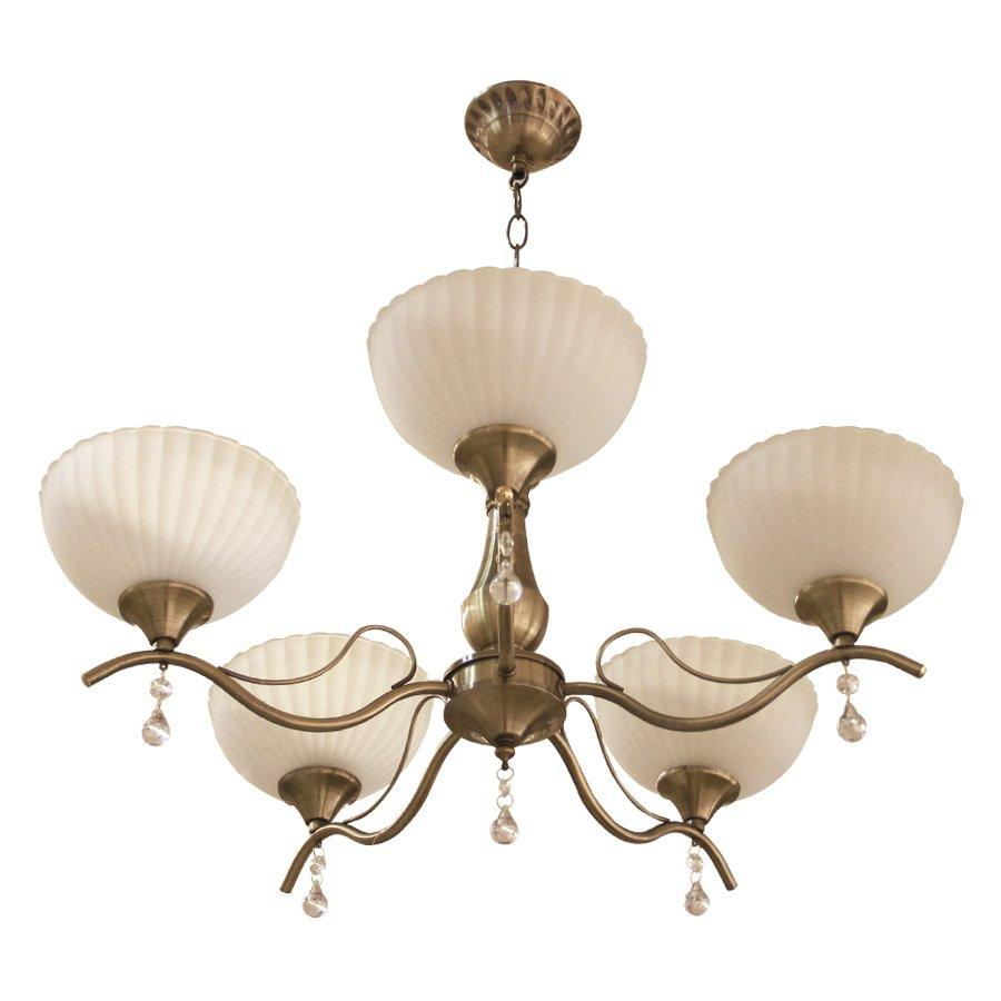 D-36642-5 Glass Chandelier