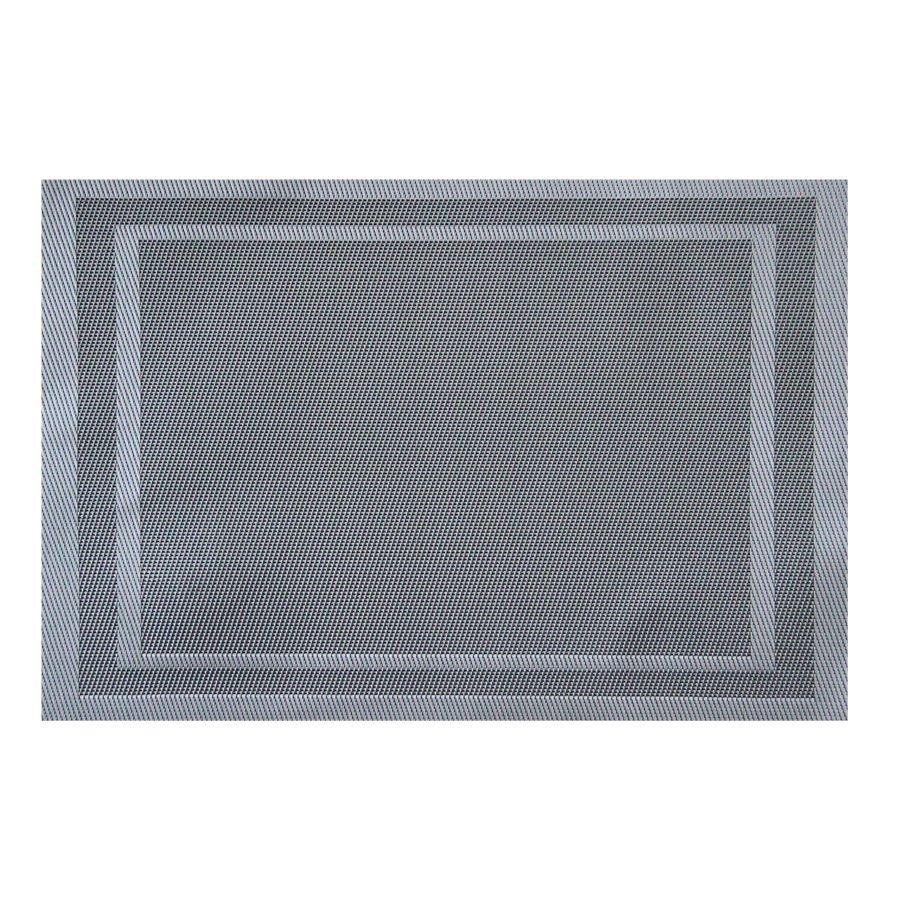 ST010042 Silver + Black Placemat 30x45