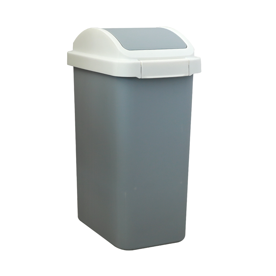 8503-B 12L Plastic Flip Trash Can