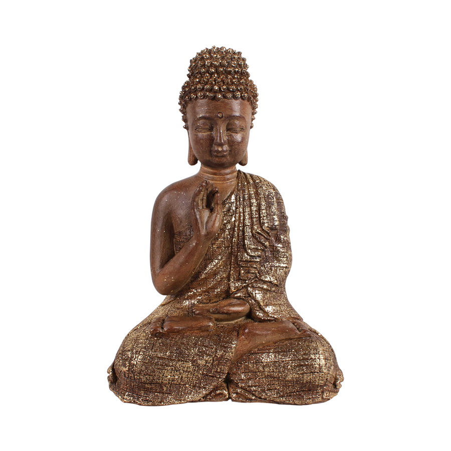 Antique Alabaster Sitting Buddha