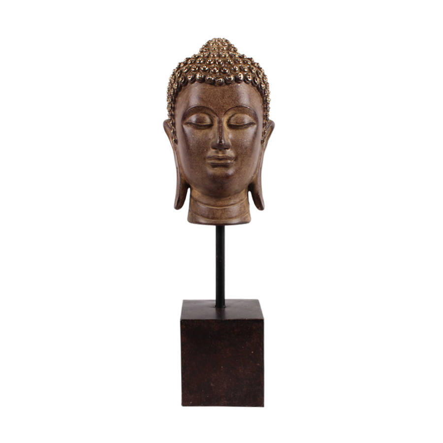 Antique Alabaster Buddha Head