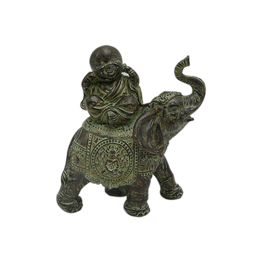 Deaf Monk On Elephant