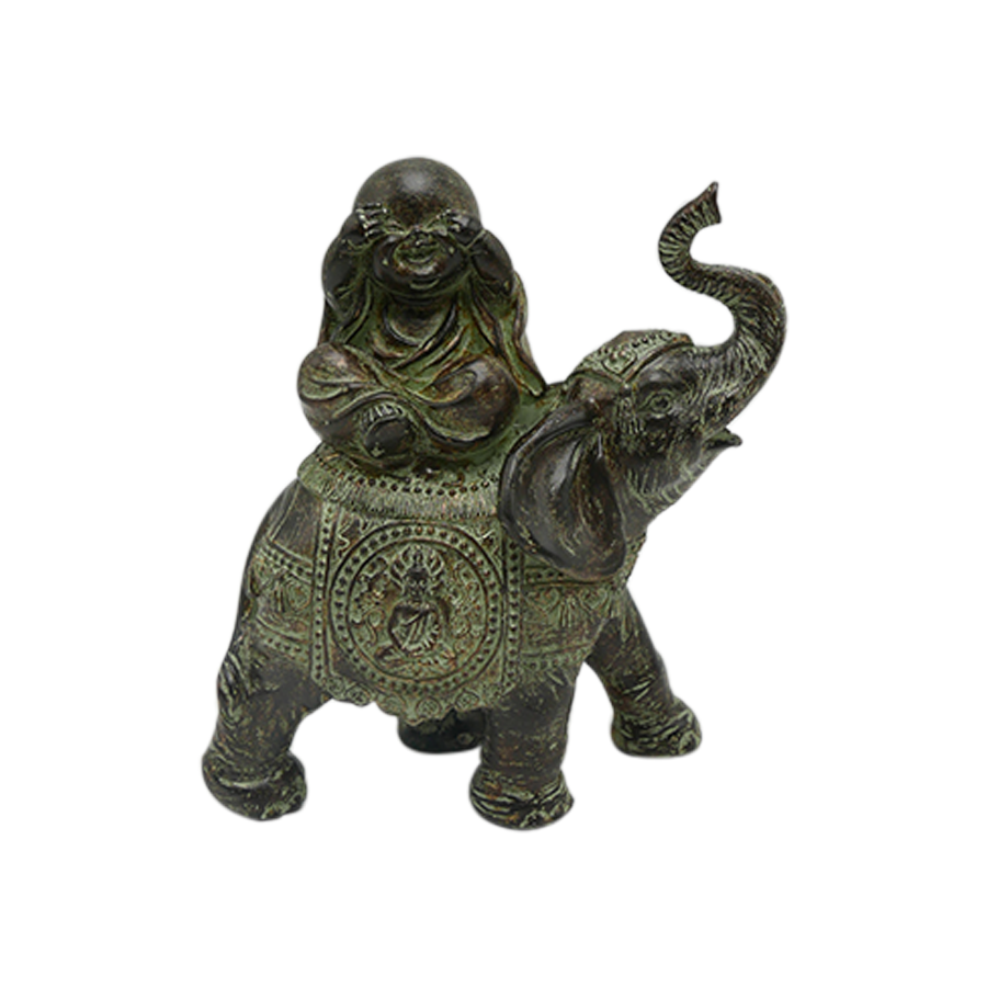 Blind Monk On Elephant