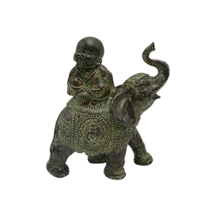 Mute Monk On Elephant