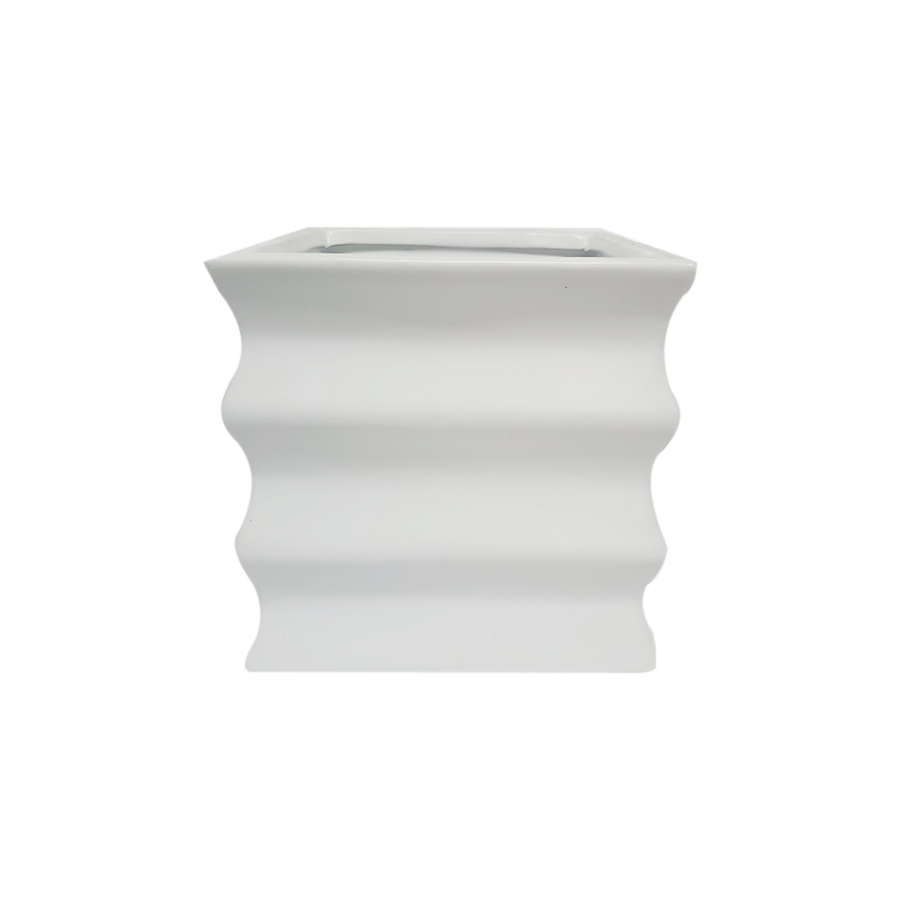 Square Grove White Vase