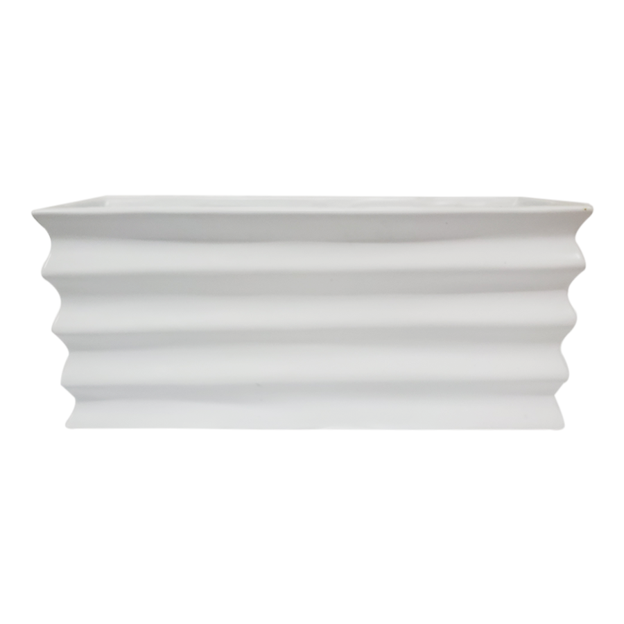 Horizontal Grove White Vase