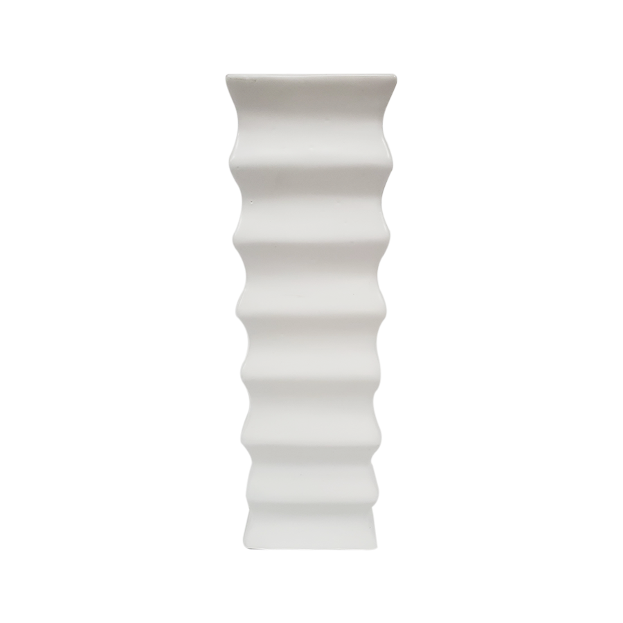 Vertical Grove White Vase