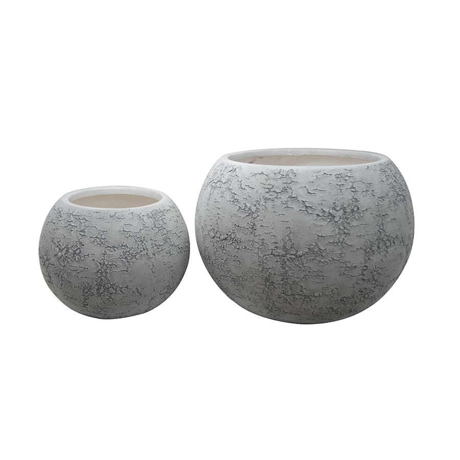 Oval Shaped Fiber Clay Pot 2/s