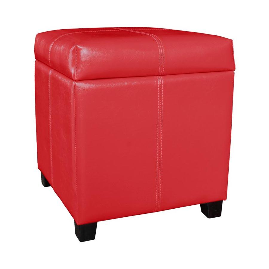 2012 - Red Storage Ottoman - Mandaue Foam
