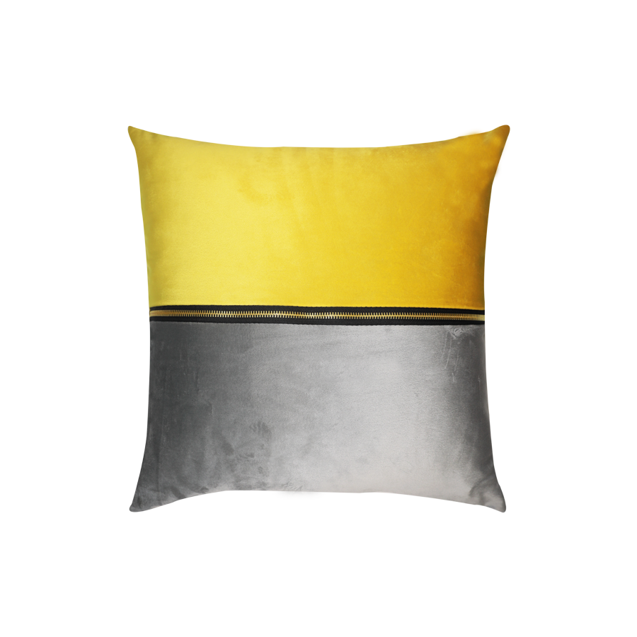 PLP08-91 Two-tone Gray/Yellow 43x43cm