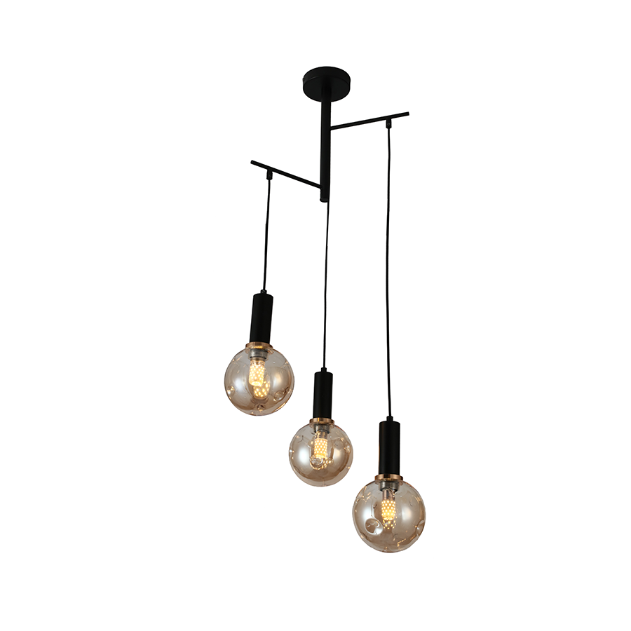 Md19105-3 Glass Pendant Lamp