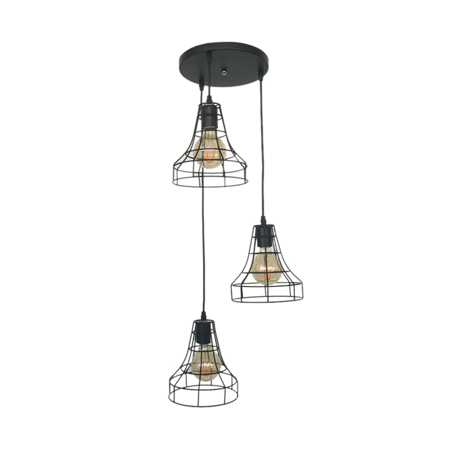 Sq058-3 Iron Pendant Lamp