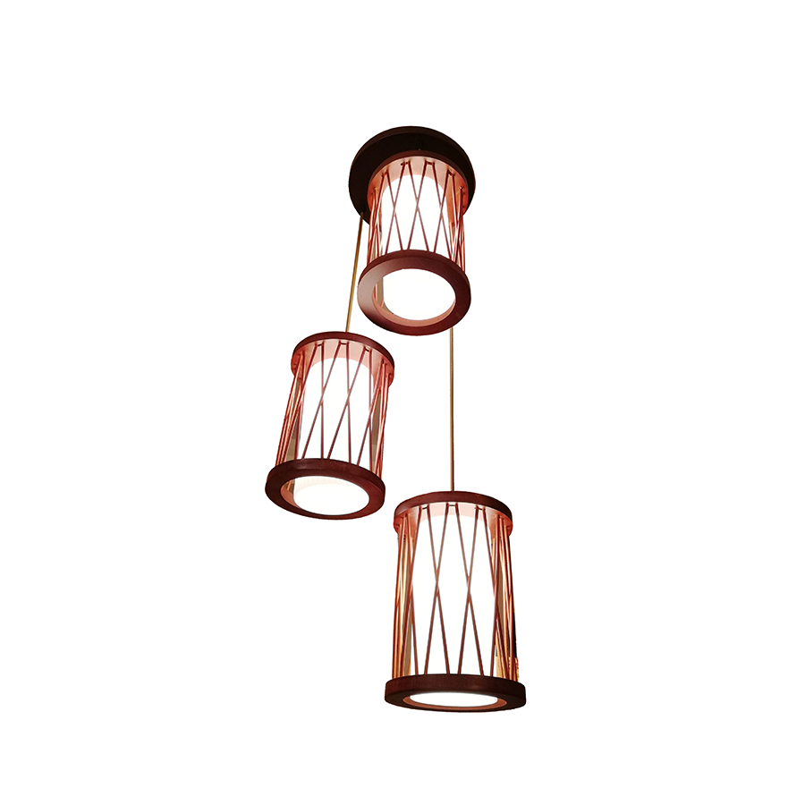 Sq592-3 Woodglass Pendant Lamp