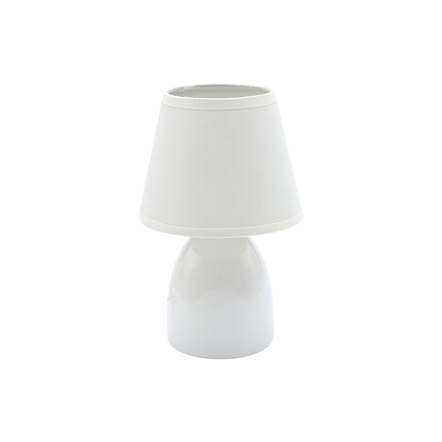 35257 Ceramic Table Lamp Light White