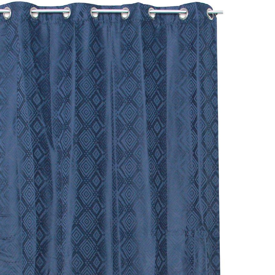 "YW-PA-7036 Blue Diamond Grommet 54""X95"""