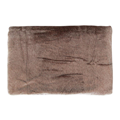 "FLL05P/01D Melange Flannel Blanket 60x90"" Brown - Mandaue Foam"