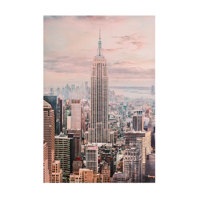 Empire State Oil Paint Wall Art 60x90cm