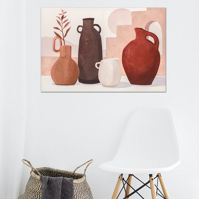 Clay Jars Oil Paint Wall Art 60x90cm