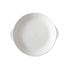 "9""Round Porcelain Serving Plate with Handle - Mandaue Foam"