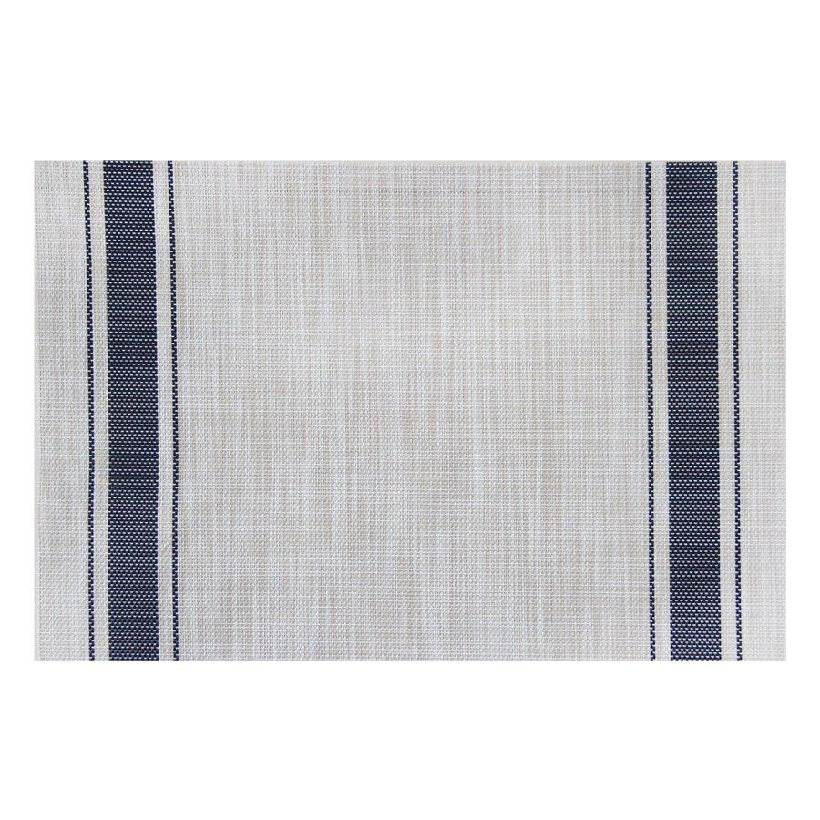 ST210706 Linen Navy Strip Placemat 30x45