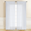 AS-PAS-0223 White Crinkled Sheer 54x95""