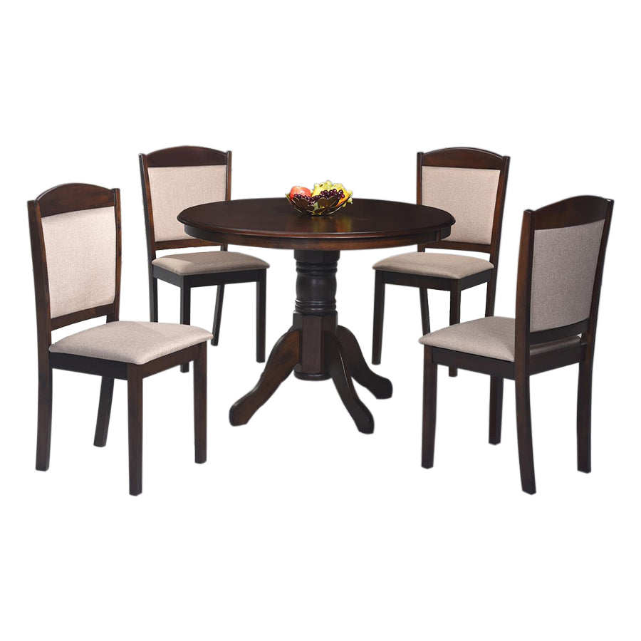 Aubrey Round 4 Seater Dining Set Mandaue Foam