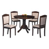 Aubrey Round 4 Seater Dining Set - Mandaue Foam