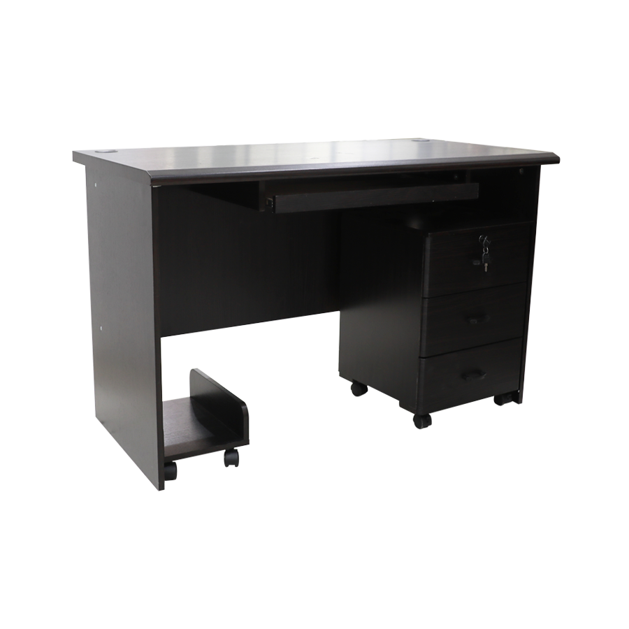 Alyson Office Table - Dark Brown