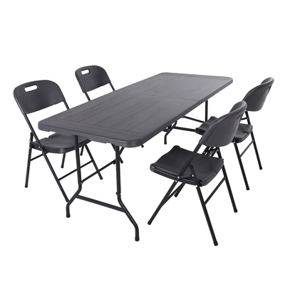 Anders 6ft Fold In Half Table - Gray