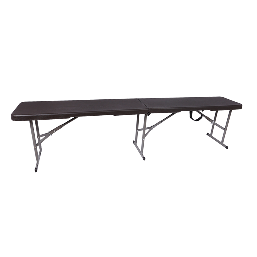 Anders 6ft Fold Inhalf Bench - Gray