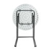 Anders Round Folding Table 60 Cm - White