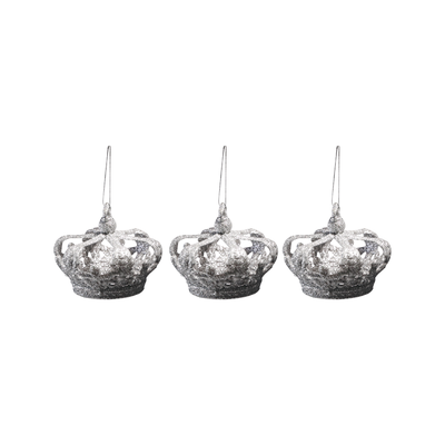 BF14A028 Crown Christmas Décor Set of 3
