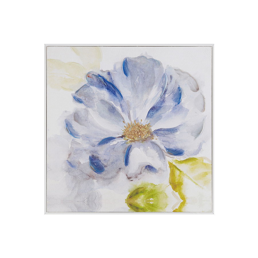 Blue Flower Printed Canvas 40x40x1.5 cm