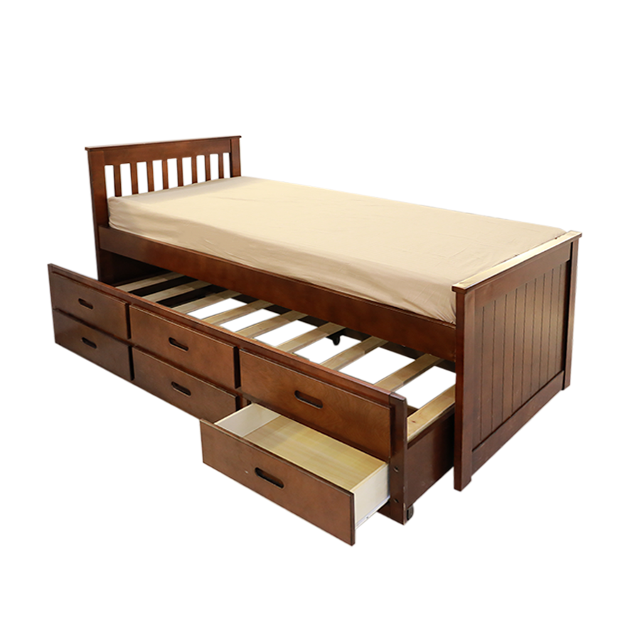 Captain Bed with Trundle 36x75""