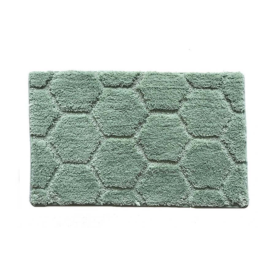 Ch001 Hexagon Pattern Rug - Green