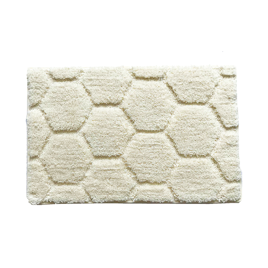 Ch001 Hexagon Pattern Rug - Ivory