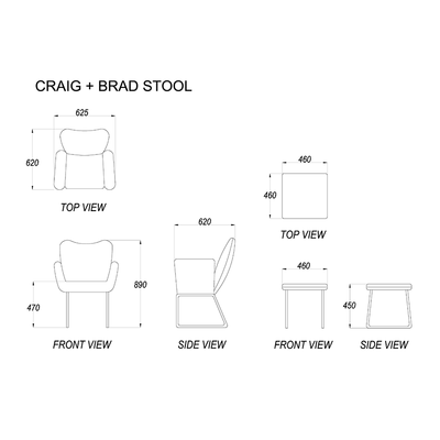 Craig Chair + Brad Stool