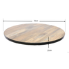 Corrie Round Table Top- Antique