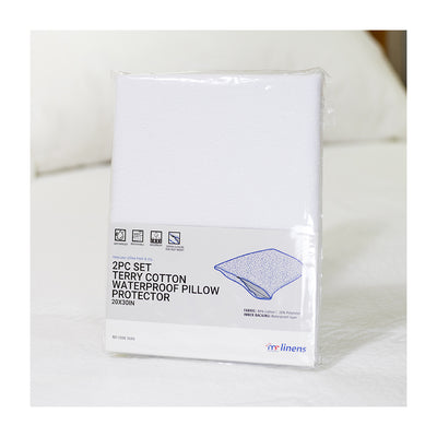 Terry Cotton Waterproof Pillow Protector