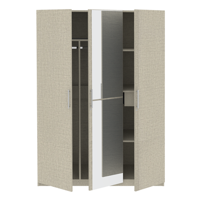 Finnick 3 Door Wardrobe with Mirror