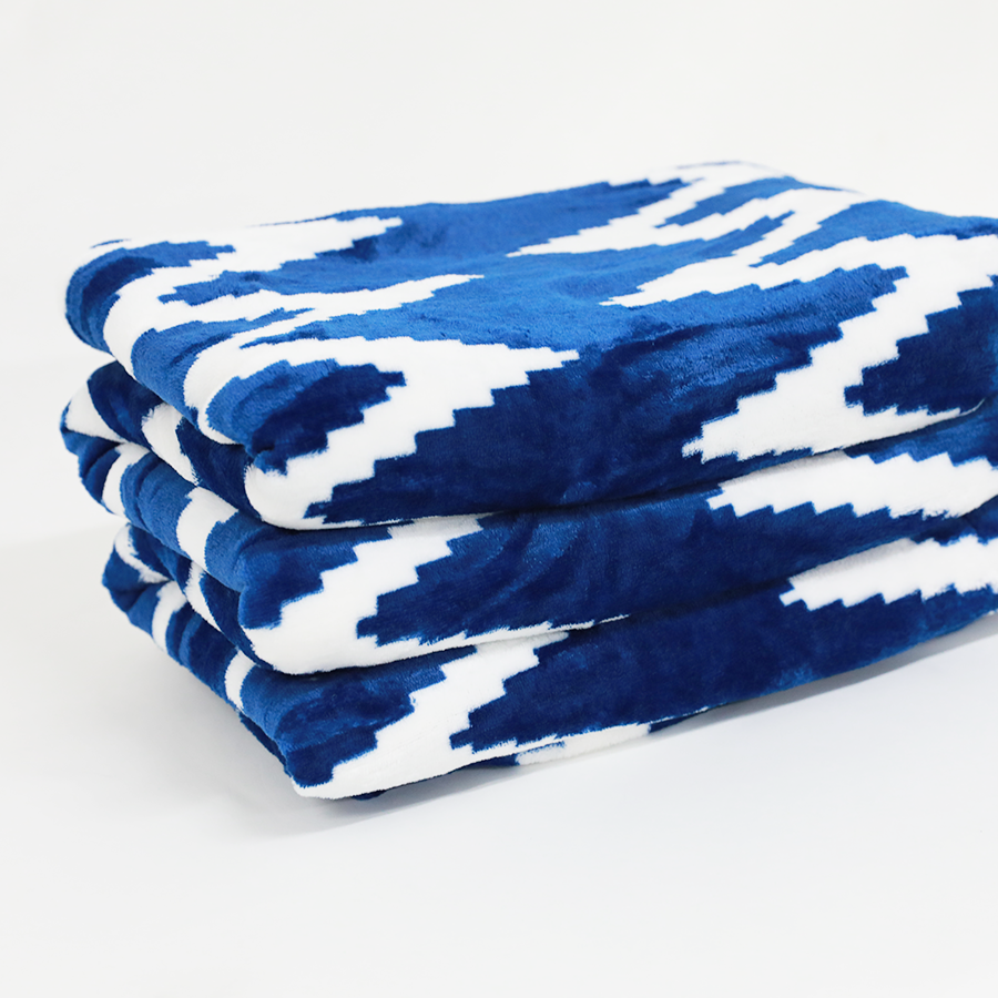 Flannel Printed Blanket 240 Gsm-waves